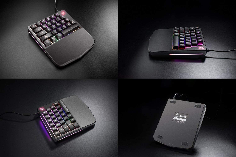 Anyet One Handed Gaming Keyboard RGB LED Backlit 28 Keys Portable Mini Gaming Key Pad USB Wired