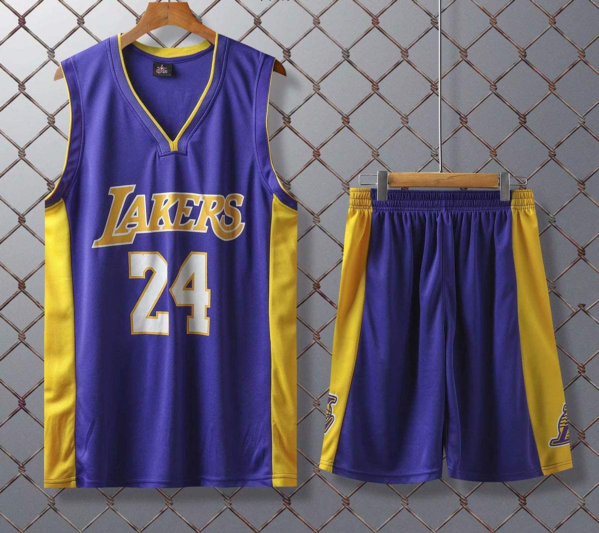 JX-PEP Uniformes de Baloncesto Los Lakers # 24 Retro Baloncesto Jerseys de Verano Fan Camisa Vestido Vestido sin Mangas Ropa Deportiva Transpirable ...