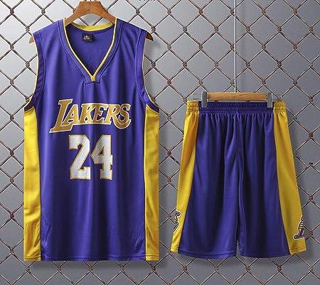 JX-PEP Uniformes de Baloncesto Lakers Kobe Bryant # 24 Retro Camisa Jerseys del Ventilador de Baloncesto de Verano Uniformes del Chaleco sin Mangas de Deporte Respirable Deportes,Púrpura,XL: Amazon.es: Hogar