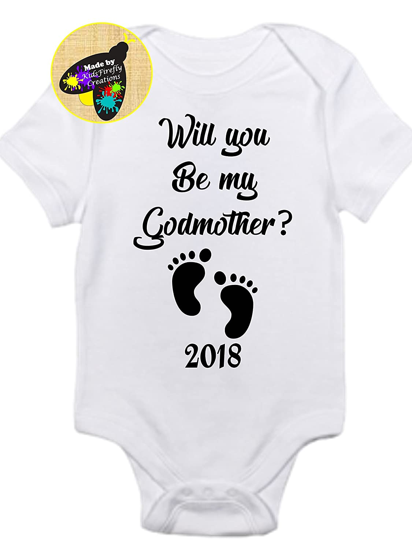 Will you be my Godmother 2018 onesie gerber bodysuit