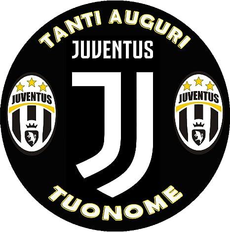 Cialda In Ostia Per Torta Tonda Juve Juventus Personalizzata Logo