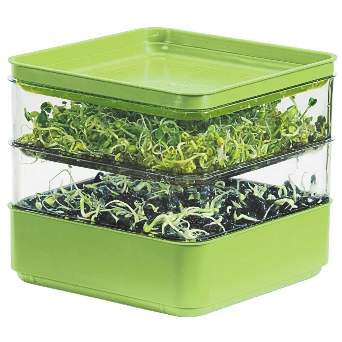 Gardens Alive! Two-Tiered Seed Sprouter - Ideal for indoor sprout growing for a healthy snack or addition to any meal! by GARDENS ALIVE!