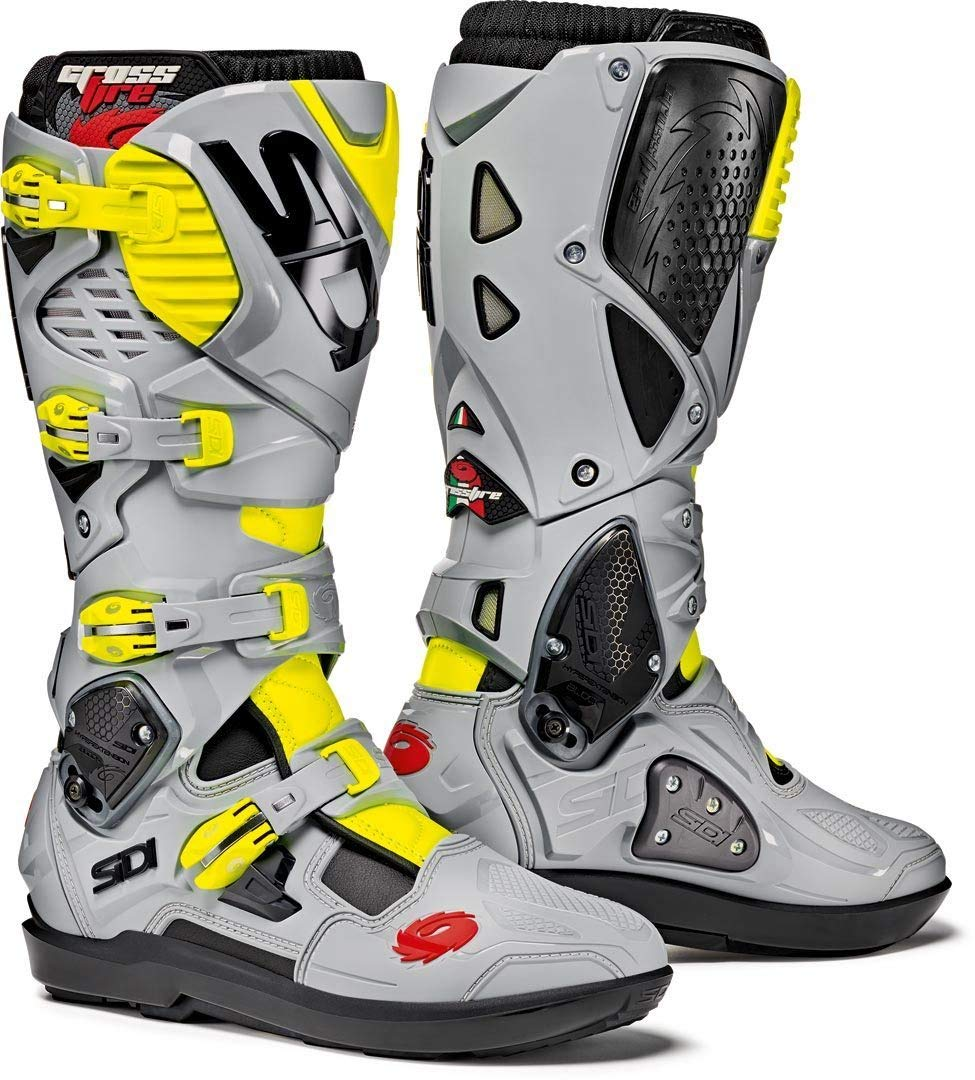 Motorcycle Boots Sidi Crossfire 3 White Orange Boots