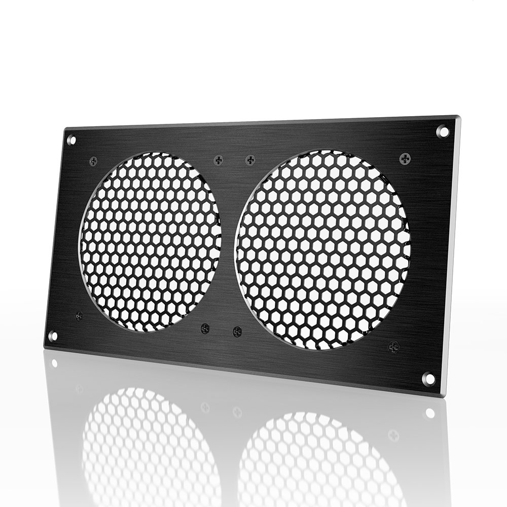 AC Infinity Ventilation Grille, for PC Computer AV Electronic Cabinets, also mounts two 120mm Fans