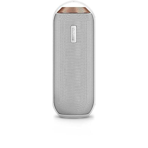 Philips BT6000W/12 Enceinte Bluetooth Portable Sans Fil avec Micro Intégré, NFC, Jack, 12W, Blanc