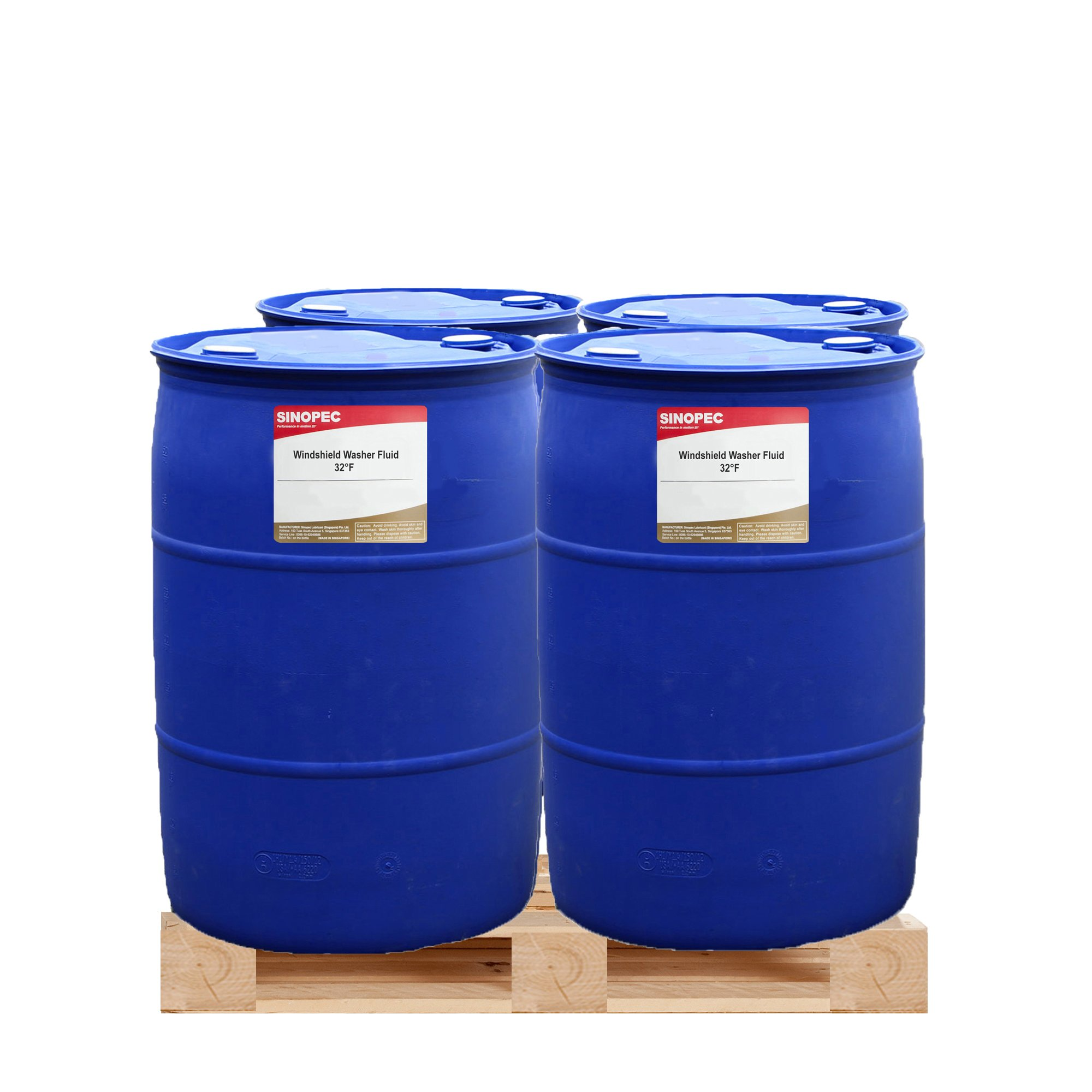 Windshield Washer Fluid, 32°F - 55 Gallon Drum by Sinopec