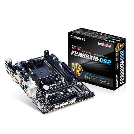 6 opinioni per Gigabyte GA-F2A88XM-DS2 Scheda madre (micro-ATX, AMD A88X, 2x DDR3, 4 x SATA