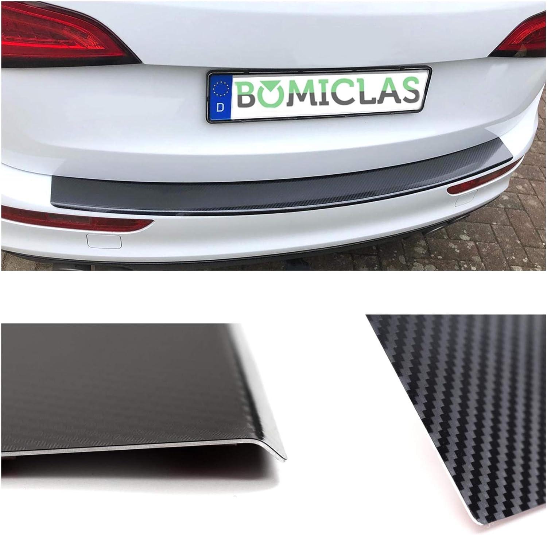 BOMICLAS Ladekantenschutz Sto/ßstangenschutz 5D Carbon auf Aluminium mit Abkantung AUDIB9