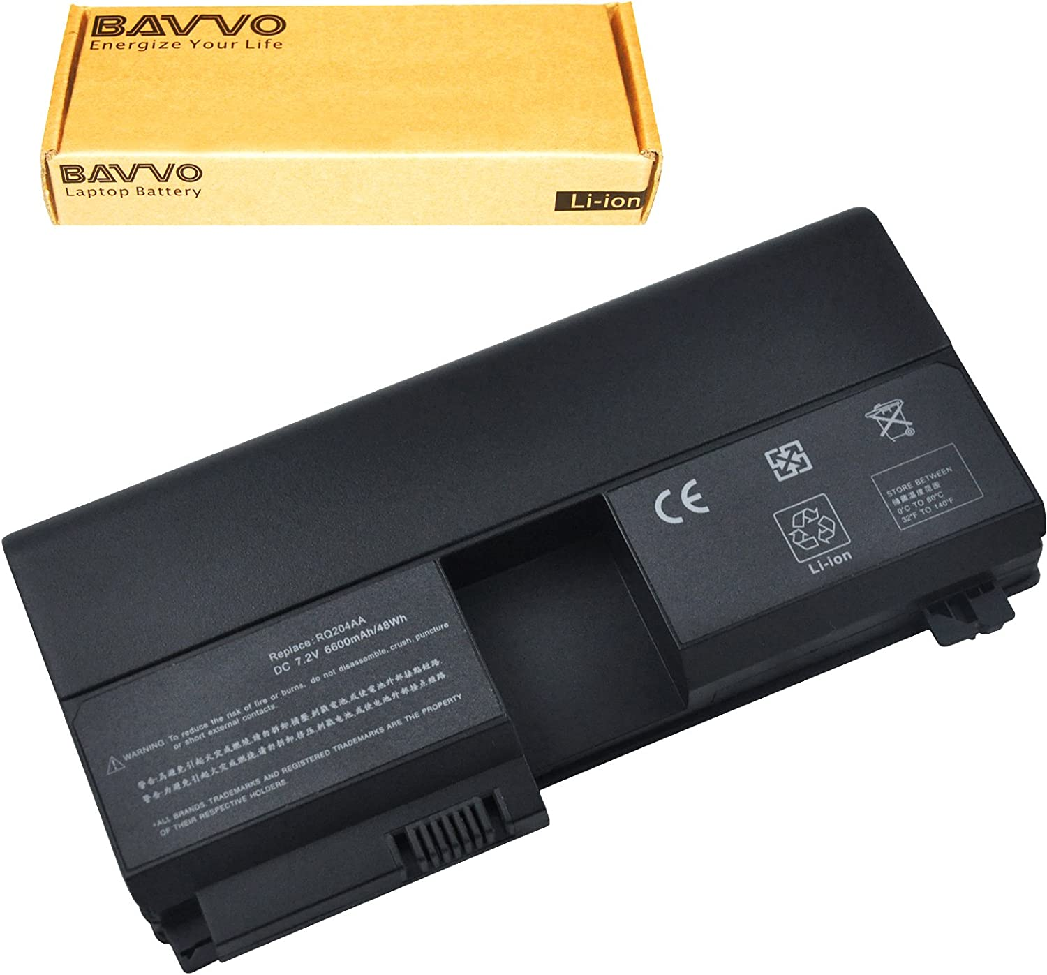 Bavvo 6-Cell Battery Compatible with Pavilion tx2000ed tx2510 tx1000 tx1100 tx1200 tx1300 tx1400 tx2000 tx2100 tx2500 tx2600