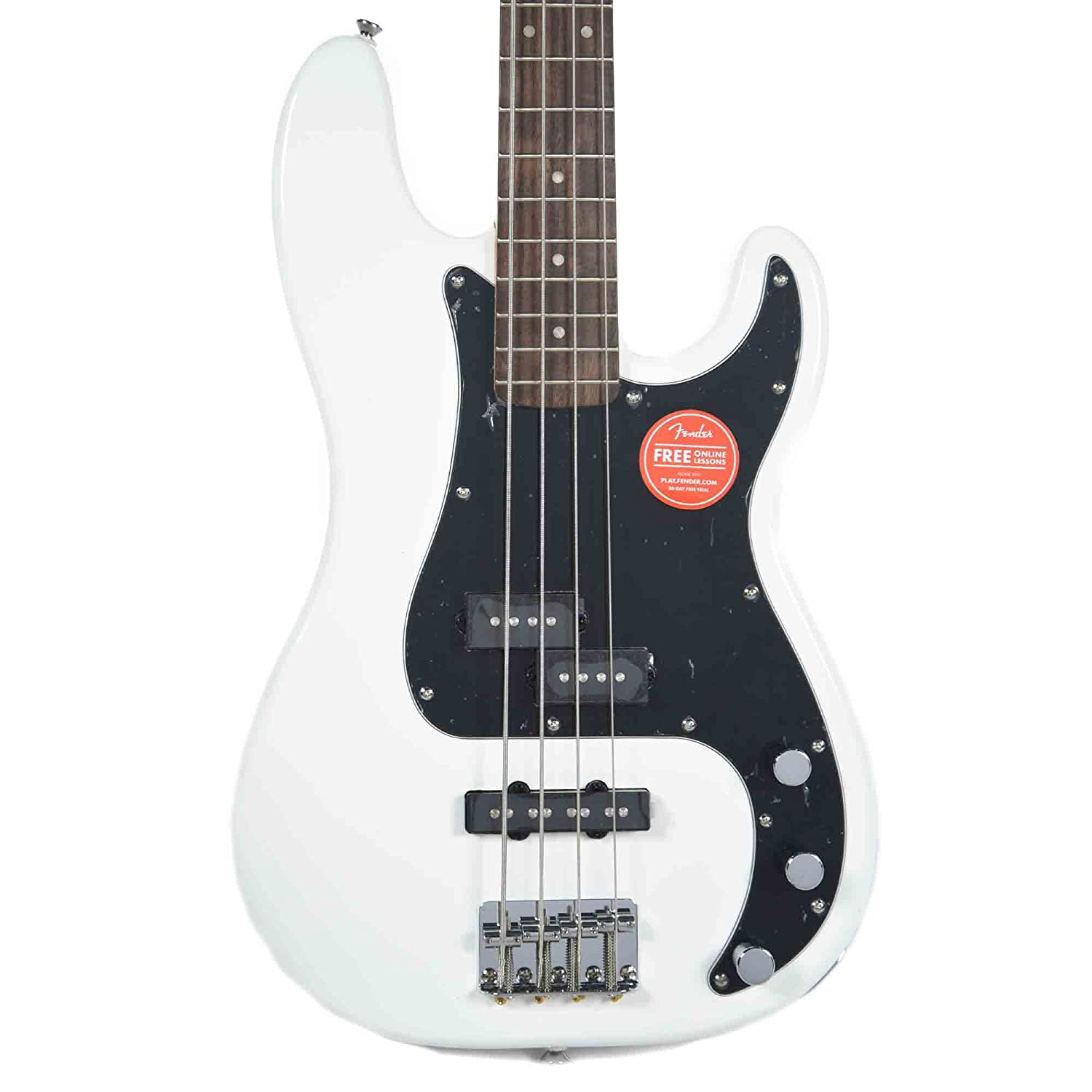 Squier Affinity Precision Bass PJ Olympic White w/3-Ply Black Pickguard