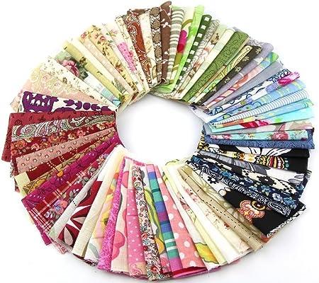 Recuadros de tela con diseño de mosaico, de RayLineDo, de algodón, de 10 x 10 cm, paquete de 50: Amazon.es: Hogar