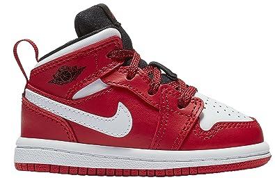 c81a8cd378de0 Amazon.com | Jordan Mid 1 Gym Red/Black-White (Toddler) | Shoes