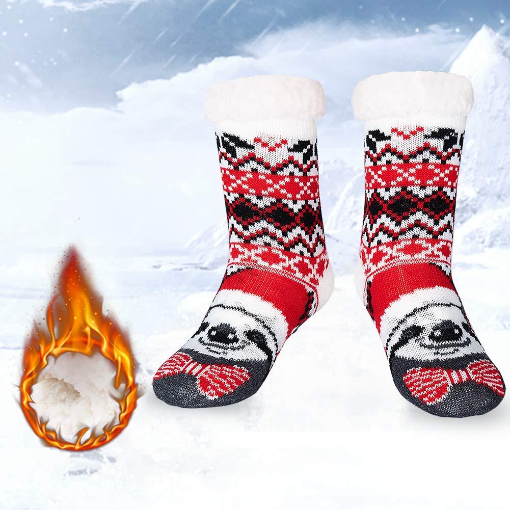 RAISEVERN garçons chaussettes de Noël Fuzzy Chaussettes douces confortables confortables moelleux Lounge chaussettes hiver