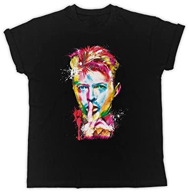 83c352bf3 David Bowie T Shirt Shhh Colourful Eyes Music Mens Womens Tshirt Tribute Tee:  Amazon.co.uk: Clothing