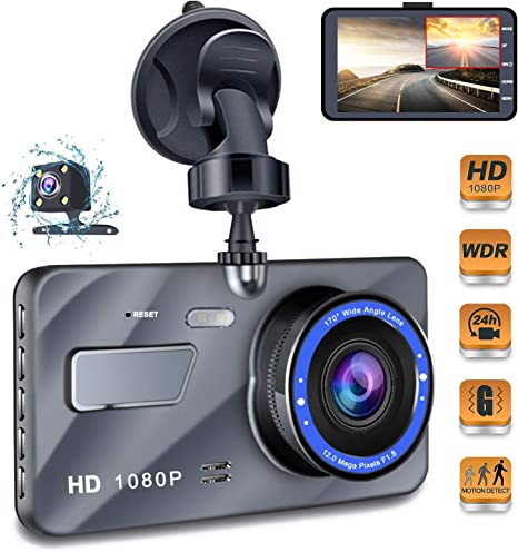 HD Mirror Seen TV Dash Cam With Front and Back Camer Recording Top Quality New