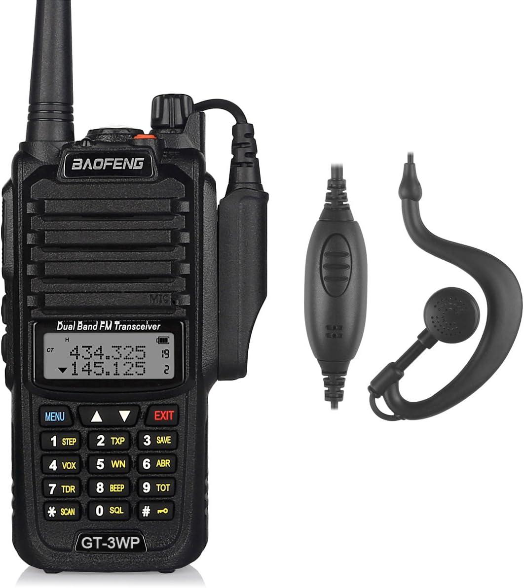 Baofeng Gt 3wp Radio Waterproof Ip67 5 Km Range Vhf Elektronik