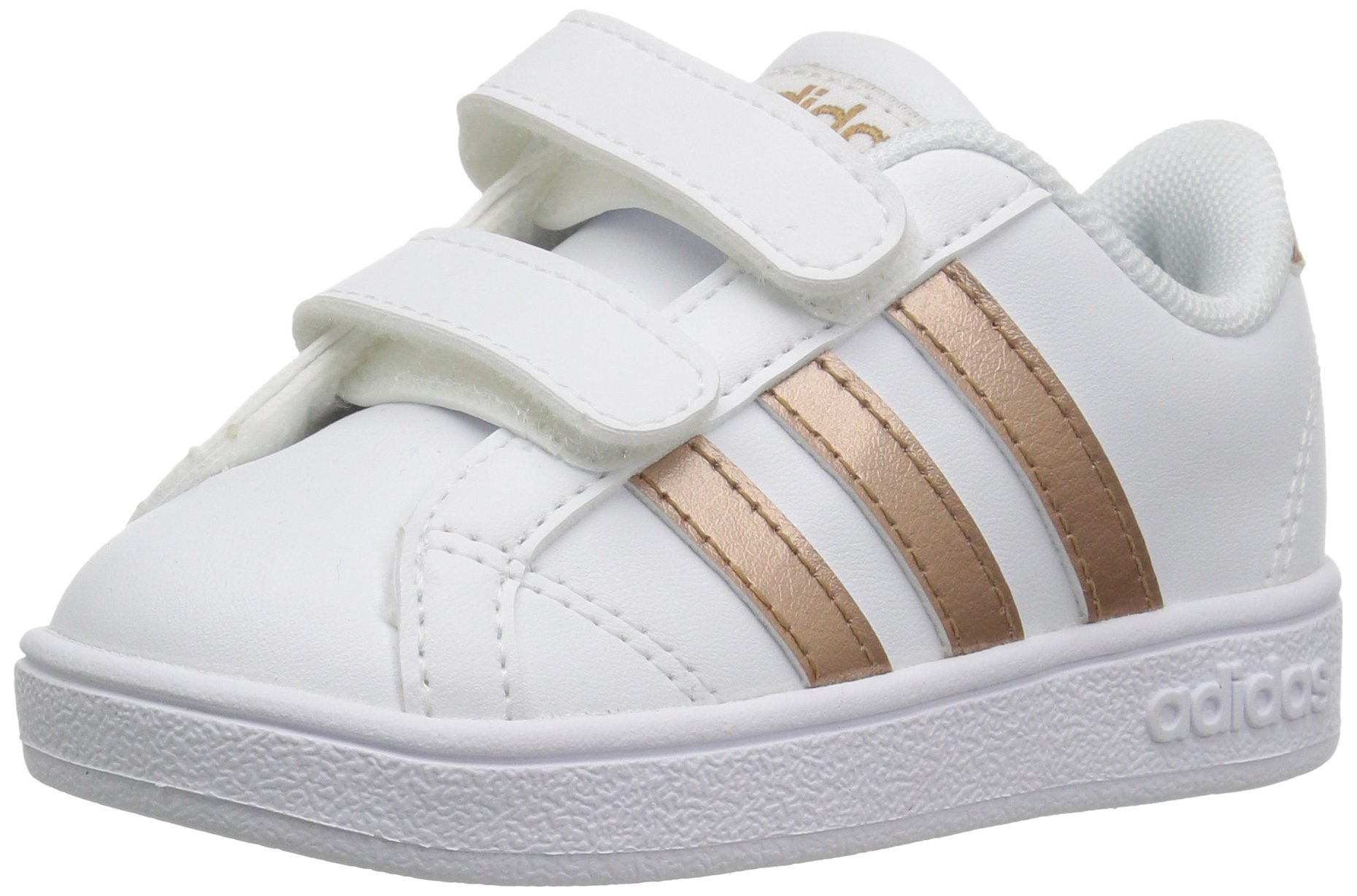 adidas Performance Baby Baseline, White/Copper Metallic/Black, 6K M US Toddler by adidas (Image #1)