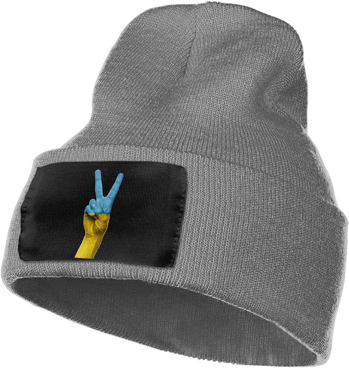 SLADDD1 Ukraine Warm Winter Hat Knit Beanie Skull Cap Cuff Beanie Hat Winter Hats for Men /& Women