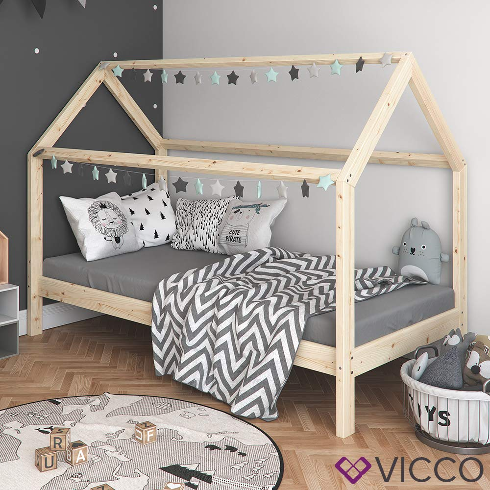 Vicco Kinderbett Wiki 90x200 Jugenbett Unbehandelt Kinderhaus Bett