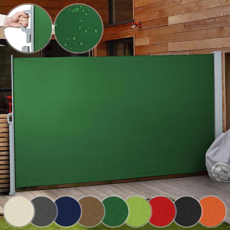 Jago Tenda da sole paravento frangivento grandezza e set a scelta avvolgibile in poliestere 300 x 160 cm colore terracotta