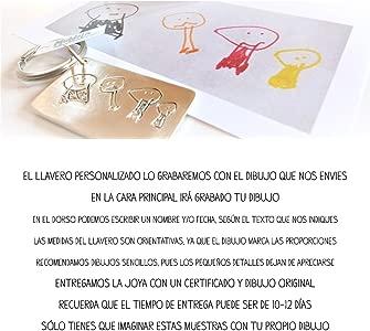 MUNOTA- Llavero Personalizado de Plata Cuadrado con TU ...