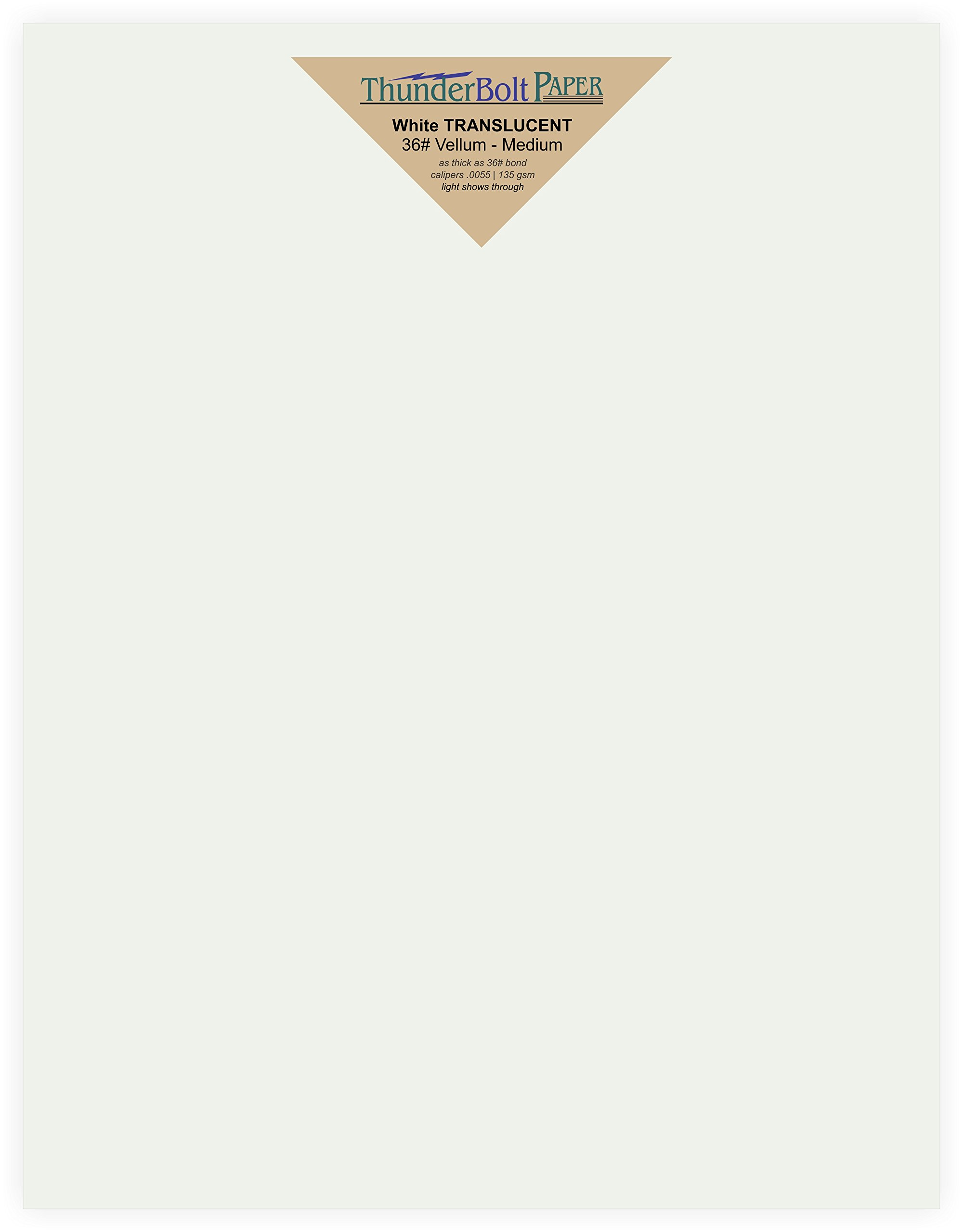 150 Soft White Translucent - 36# (36 lb/Pound) Medium Thick - 8.5 X 11 inches Letter Size - Heavier Weight Vellum Sheets Quality Paper for Fine Results - Fun|Formal - Not a Clear Transparent