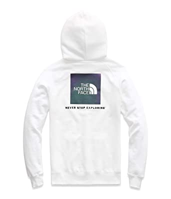 70aa4a5b The North Face Women's Red Box Pullover Hoodie TNF White/Iridescent Multi  X-Small