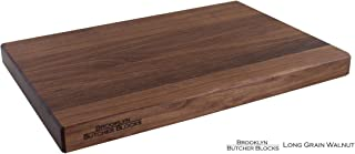 product image for 12 x 18 x 1.25 Edge Grain Walnut Bread Board - Light - No Groove Means Fewer Splits - Customize: Juice Grooves and Indented Handles - Free Rubber Feet Included - Cutting Board Made in USA