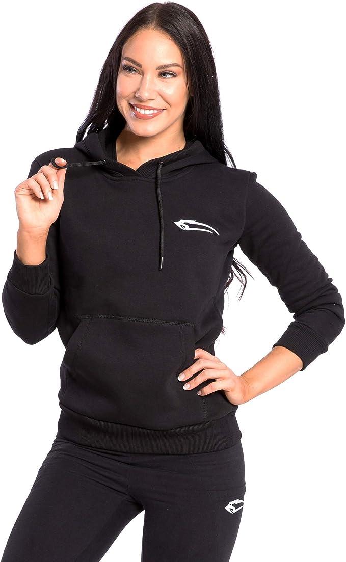 SMILODOX Damen Hoodie 'Obscurity'  Hoodie für Sport Fitness