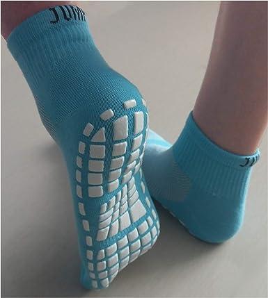 24-25 CM // 9.4-9.8 INCH BLUE NON SKID SOCKS FOR KIDS STICKY NON SLIP GRIP TODDLERS
