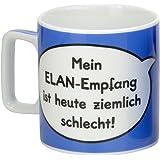 """Sheepworld 42476 Tasse Wortheld """"Mein ELAN-Empfang ist heute ziemlich schlecht!"""", blau"""