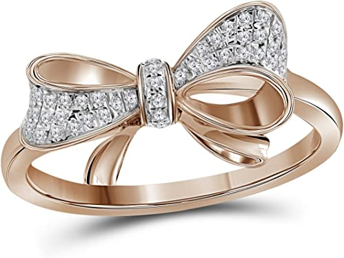 anillo de oro rosa en forma de lazo