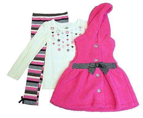 ef08d8d65 Amazon.com: Kids Headquarters 3-Pc. Faux-Fur Vest, T-Shirt ...