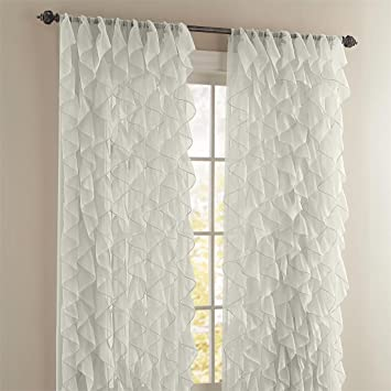 Amazon.com: Brylanehome Cascade Rod-Pocket Curtain (Ivory,50