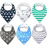 Amazon Price History for:Swish Baby Bandana Drool Bibs for Drooling and Teething - Unisex 6 Pack Gift Set for Boys and Girls, 100% Organic Cotton, Super Soft and Absorbent