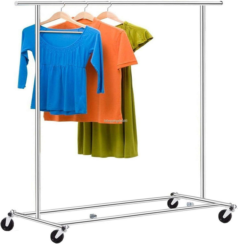 Generic Yh-us3–160519–2638yh3346yh Helf 168,4cm vêtement de Rolling Loset Hange Heavy Duty Heavy DUT Dressing Cintre vêtement de R en acier Vêtements Teel Clot étagère 168,4cm