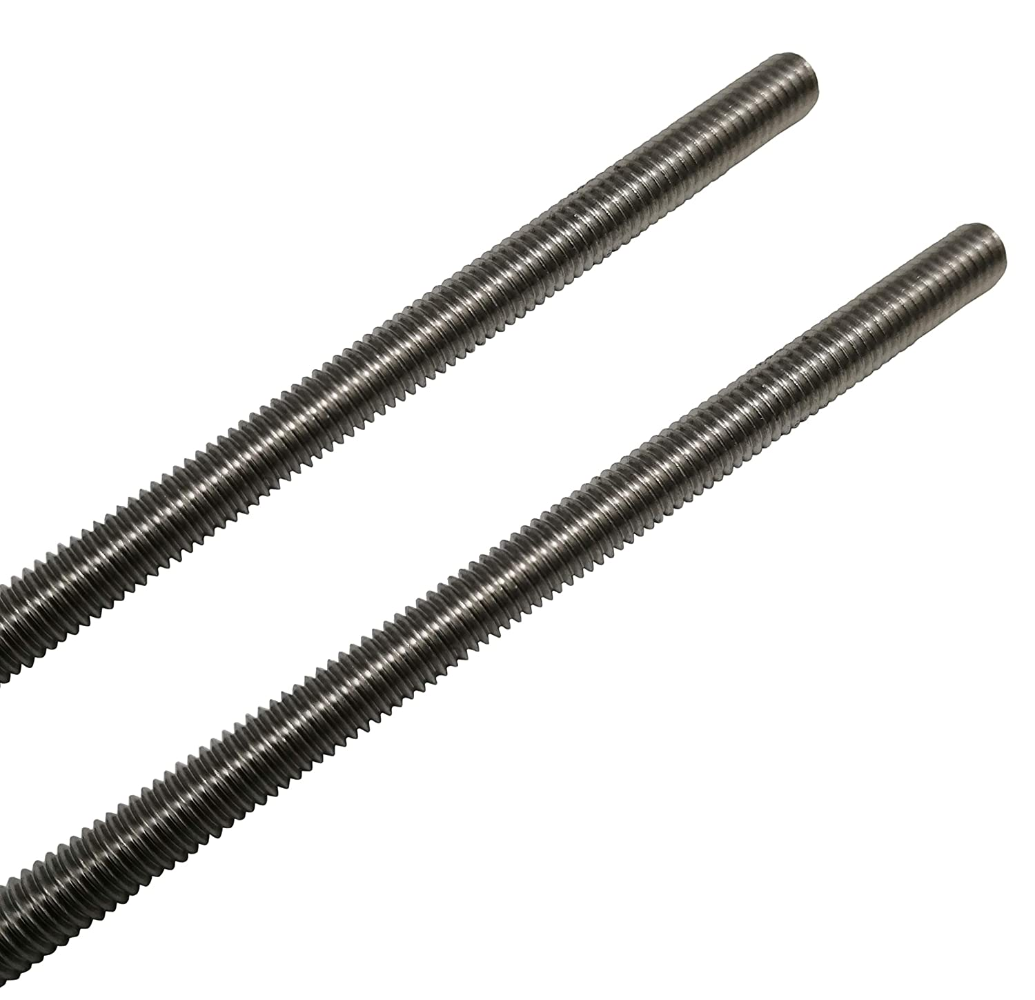 2 Pack Right Hand Threads M4 x 200mm Fully Threaded Rod 304 Stainless Steel