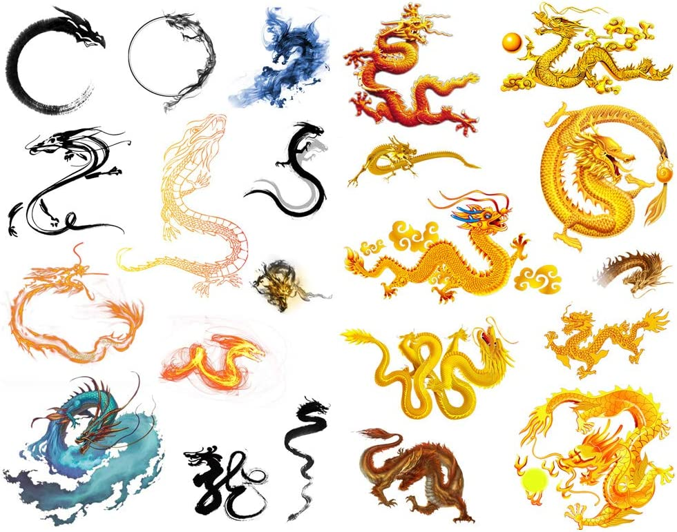Seasonstorm Chinese Myth Dragon Precut Cute Aesthetic Diary Travel Paper Junk Journal Stickers Scrapbooking Stationery Sticker Flakes Art Supplies (PK345)