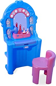 Little Tikes Ice Princess Magic Mirror - Roleplay Vanity with Lights Sounds & Pretend Beauty Accessories, Multicolor