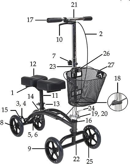 Amazon.com: Disco orientable – Andador de rodilla modelo de ...