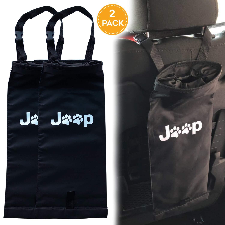2 Pack Jeep Wrangler,Cherokee, Compass, Liberty,Renegade, Accessories JK Dog Paw Hanging Trash Bag, Storage Bag, Organizer, Trash//Garbage Can Rorex