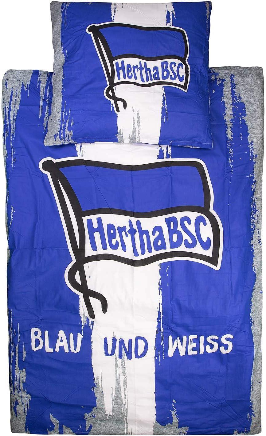 Hertha BSC Berlin Bettw/äsche Logo 135x200cm 80x80cm