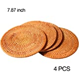 Woven Trivet for Hot Dishes-Insulated Hot Pads,4 Pcs Unique Present for Friends,Housewarming,Birthday,Living Room Decor…