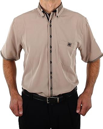 Camisa de diseño en Color Beige, Manga Corta, Camisas para ...