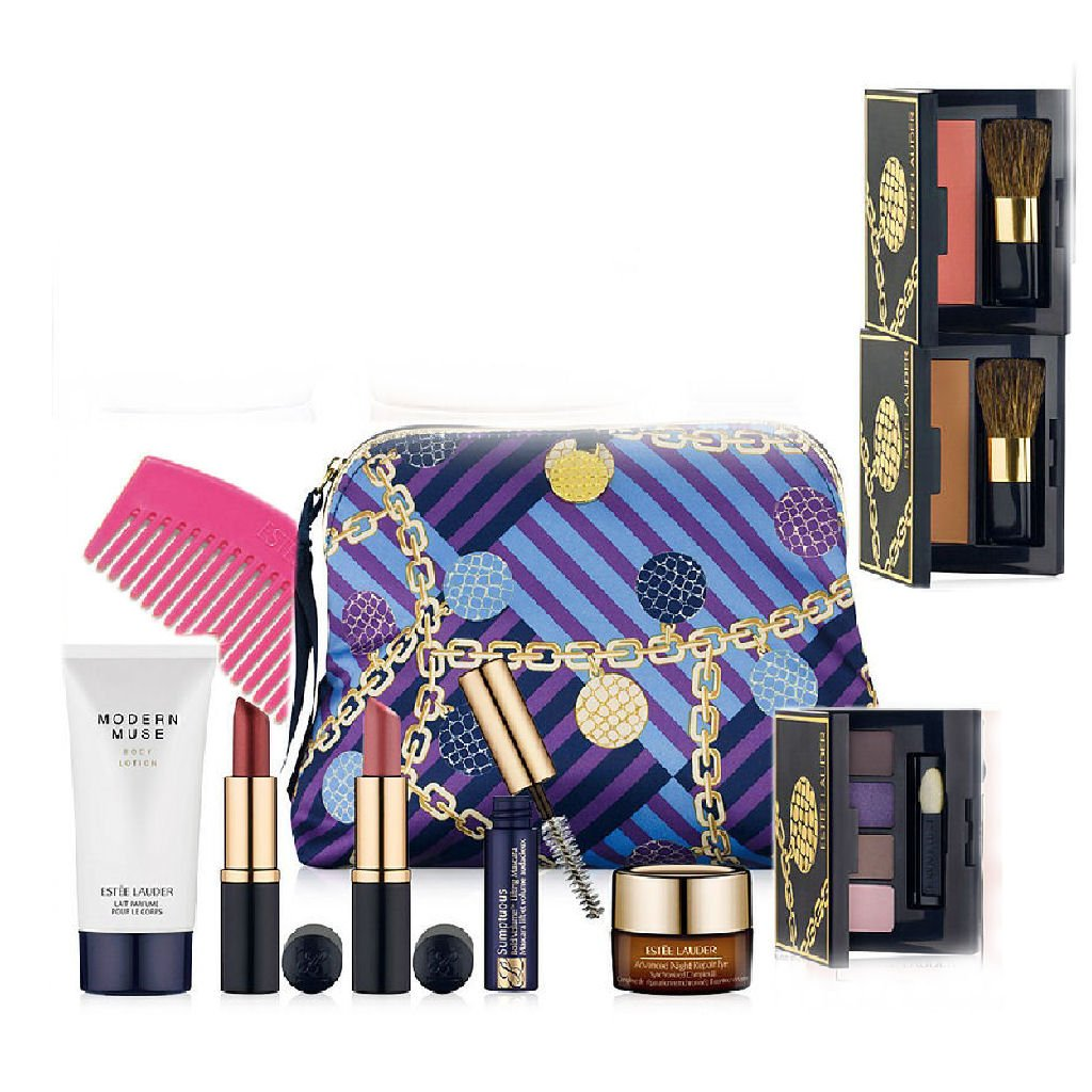 Amazon.com : Estee Lauder New Macy's 7 Pcs Skin Care Makeup Gift ...