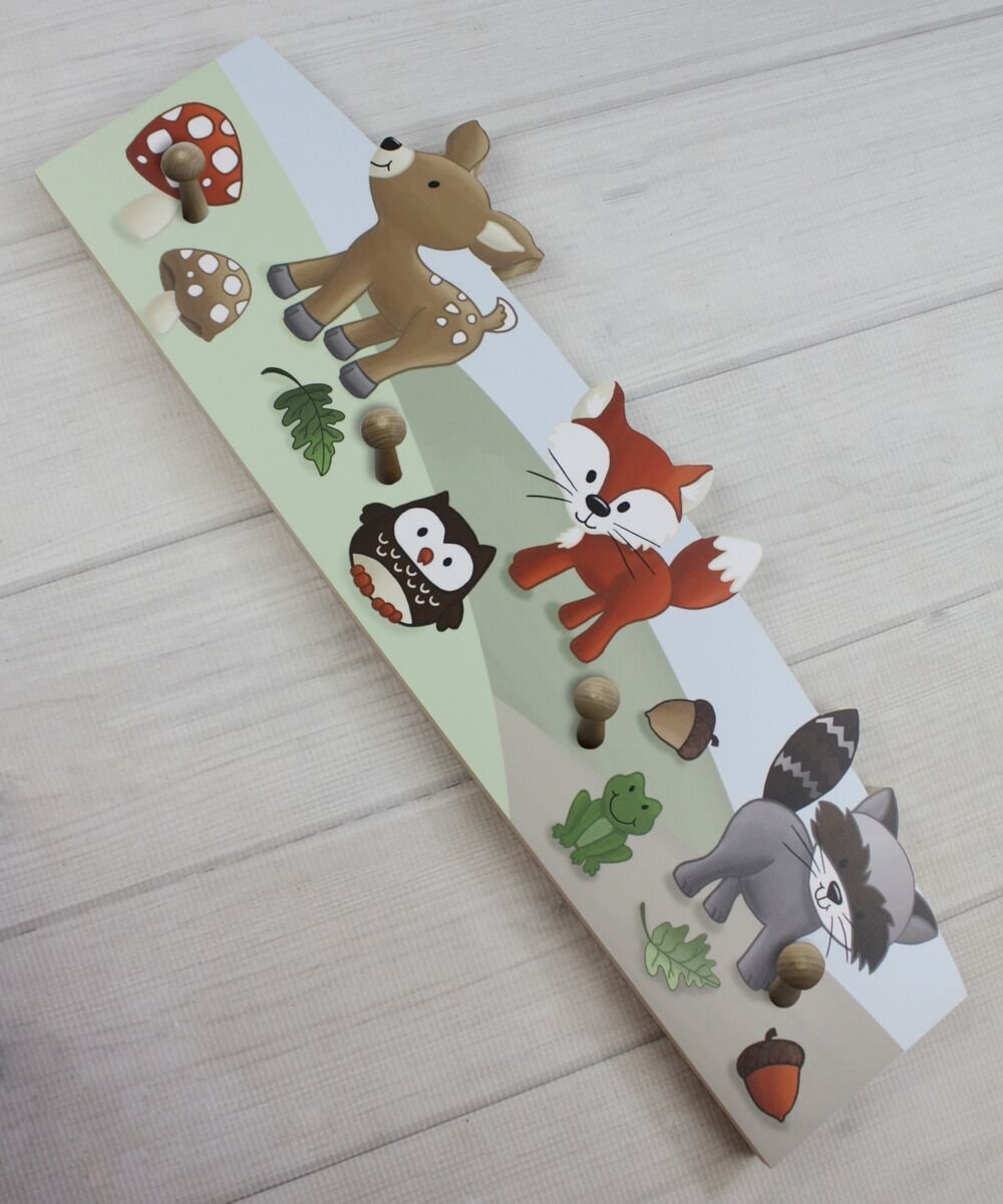 Toad and Lily CR0003 Forest Animal Woodland Friends Kids Clothing Rack