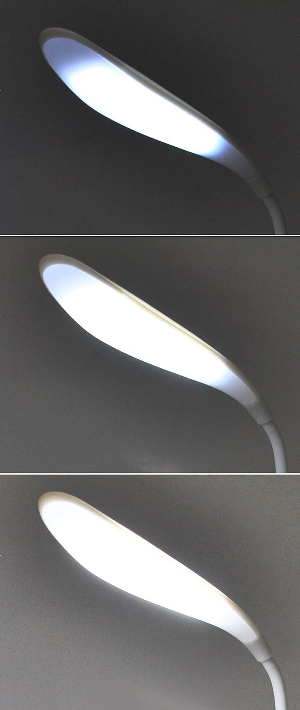 LED Lámpara de escritorio oficina 500Lux batería USB 360 ° 3 ...