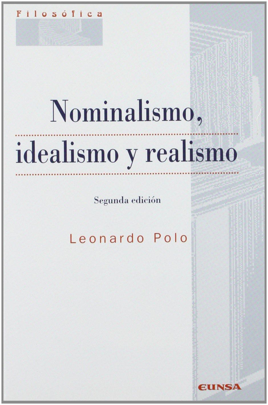 Nominalismo, idealismo y realismo Colección filosófica: Amazon.es ...