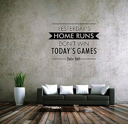 Amazoncom Fgdgf Yesterdays Home Runs Dont Win Todays Games