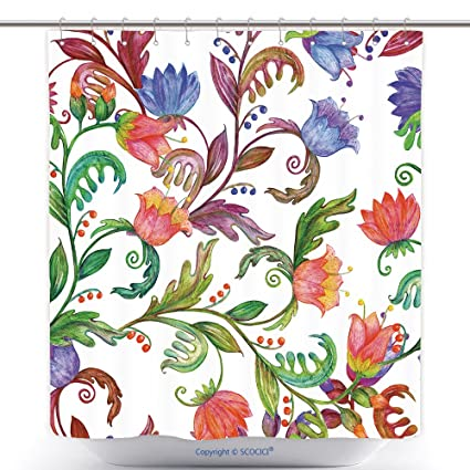 003fe2b3e051 Amazon.com: vanfan-Durable Shower Curtains Fashion Colorful Seamless ...